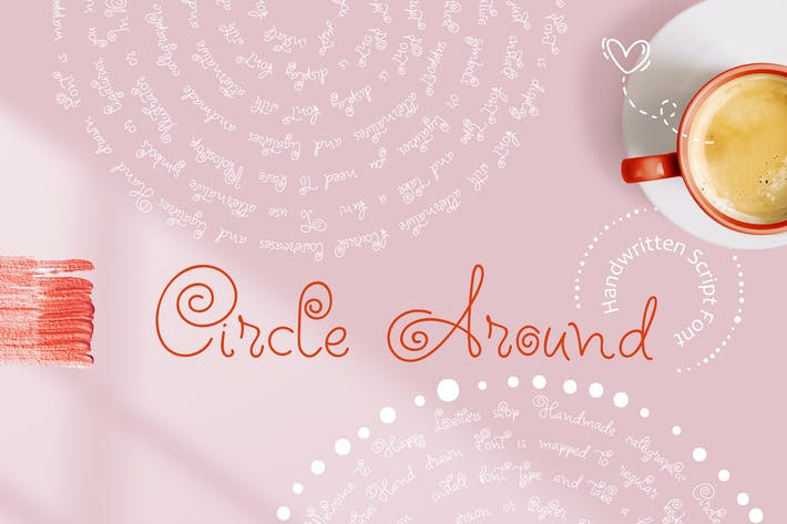 Thumbnail for Circle Around handwritten Kids Font