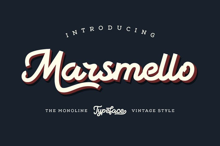 Thumbnail for Marsmello Typeface