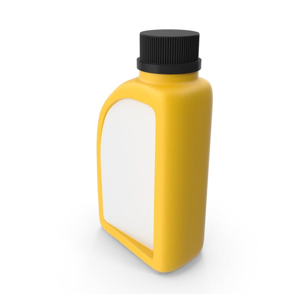 Yellow Plastic Jerrycan with Black Cap and Logo