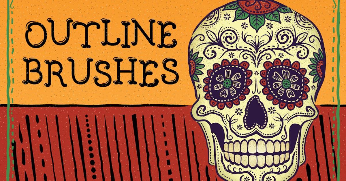 Download Outline Brushes by JRChild