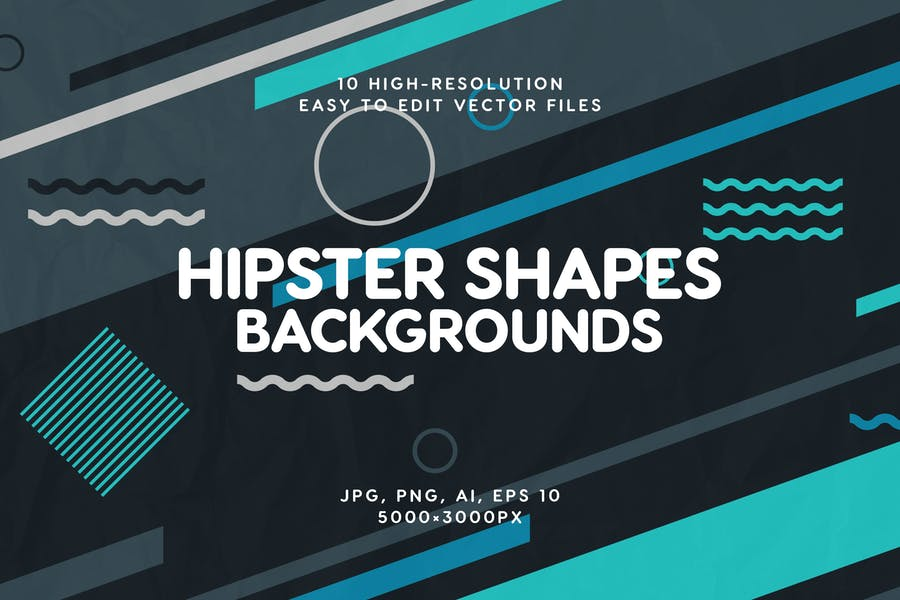 Abstract Hipster Shapes Backgrounds