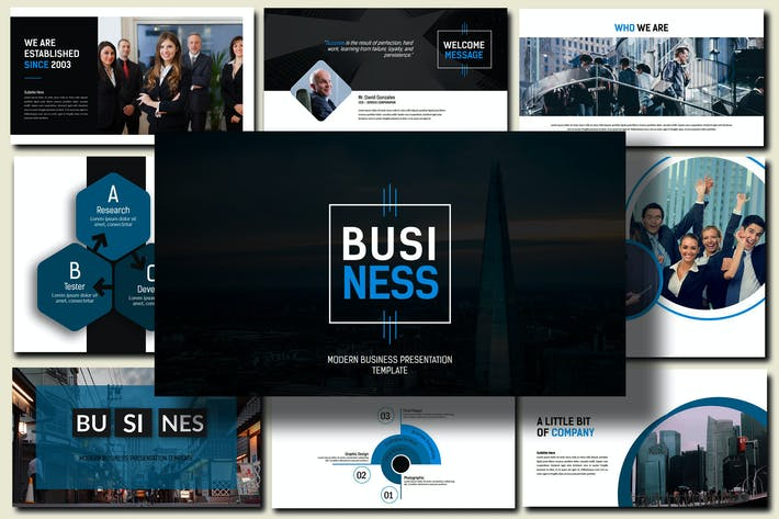 Thumbnail for Business Presentation 100+ Powerpoint Template