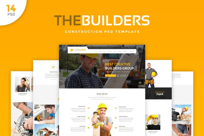 Thumbnail for The Builders - Construction PSD Template