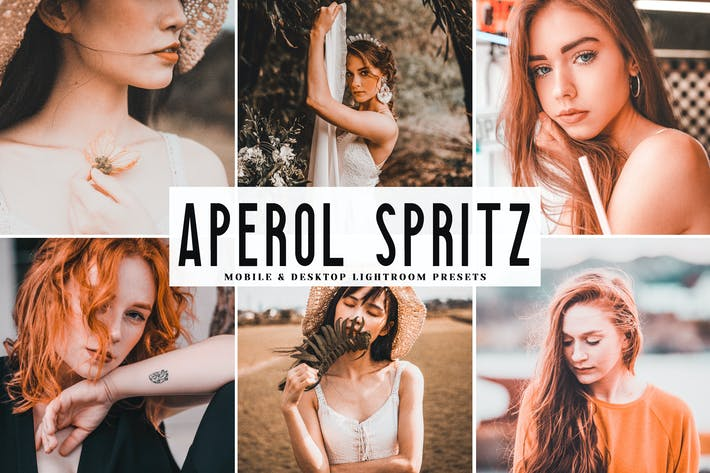 Thumbnail for Aperol Spritz Mobile & Desktop Lightroom Presets