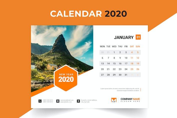 Thumbnail for Calendrier de bureau 2020