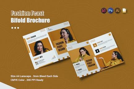 Fashion Feast Design - Bifold Brochure