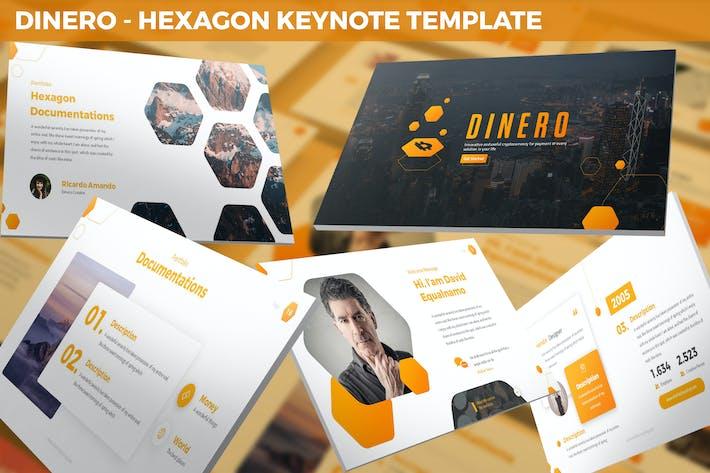 Thumbnail for Dinero - Hexagon Keynote Template