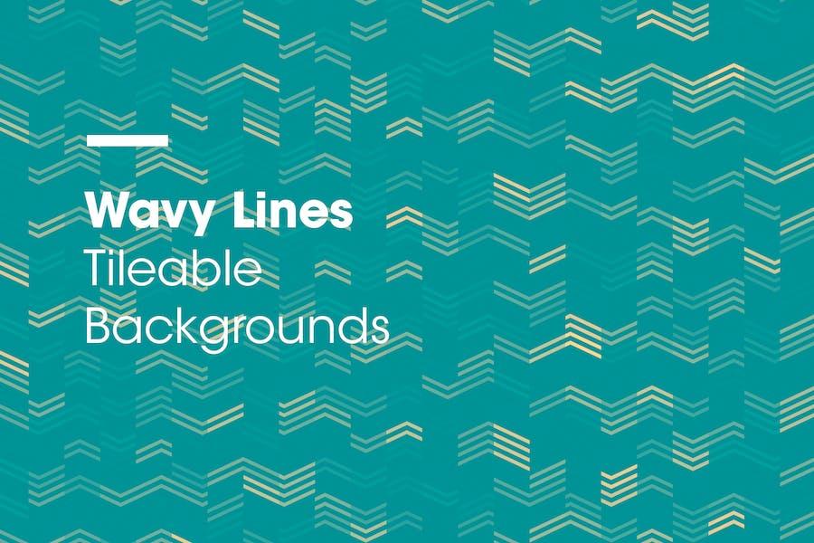 Wellenförmige Linien | Kichelbare Hintergründe