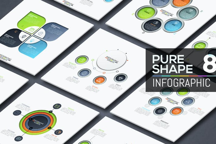 Thumbnail for Pure Shape Infographic. Part 8