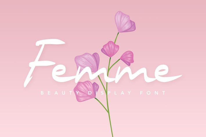 Thumbnail for Femme Beauty Display Font
