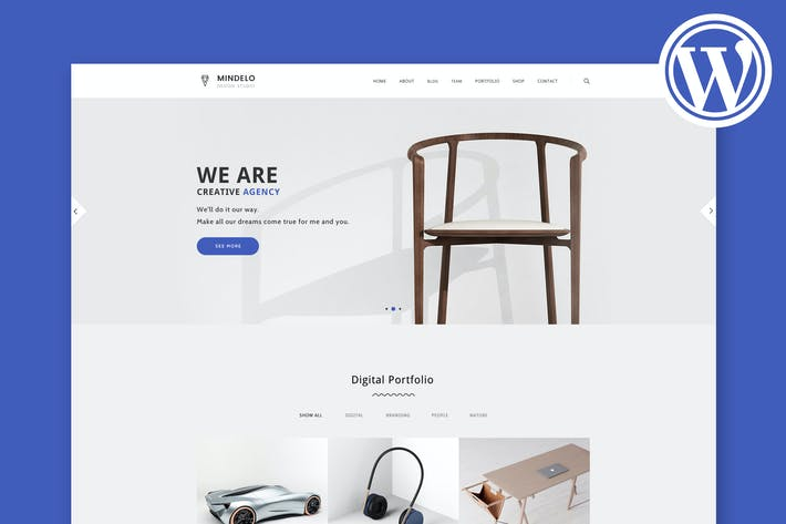 Thumbnail for Mindelo - Minimal Portfolio WordPress Theme