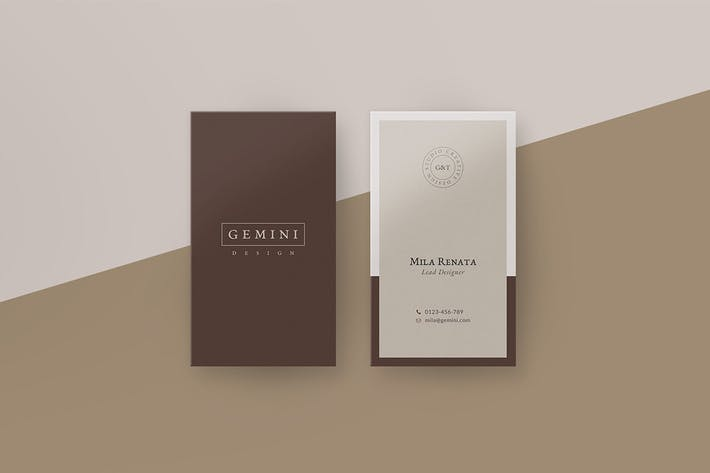 Thumbnail for Gemini Business Card Template
