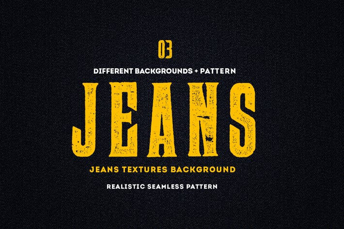 Thumbnail for Jeans Textures Backgrounds - Seamless Patterns