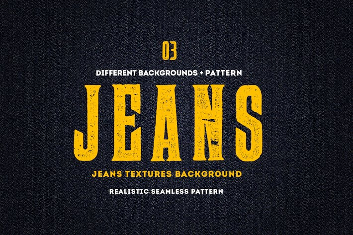 Jeans Textures Backgrounds - Seamless Patterns