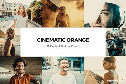 20 Cinematic Orange Lightroom Presets & LUTs