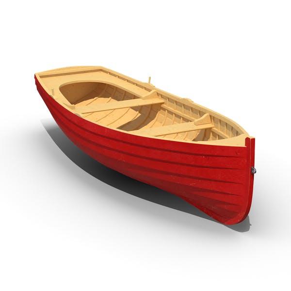 Деревянная гребная лодка