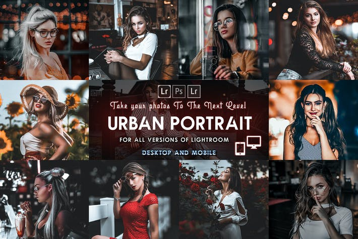Thumbnail for Urban Portrait Presets Mobile & Desktop lightroom