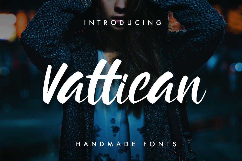 Vattican---Handmade-Brush-font
