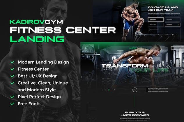 Fitness Center Landing PSD Design