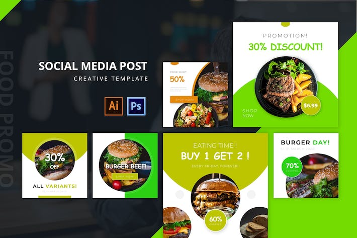 Cover Image For Food Promo Social Media Post