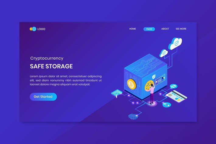 Thumbnail for Isometric Bitcoin Cryptocurrency Safe Storage