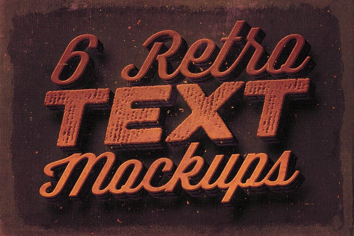Thumbnail for 6 Retro/Vintage Text Mock-ups