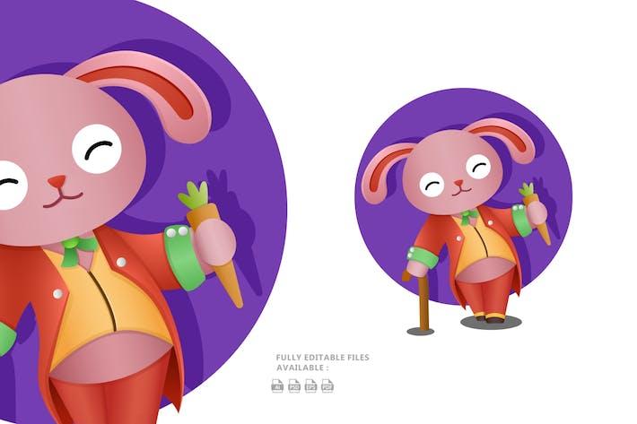 Thumbnail for Happy Bunny Illustration