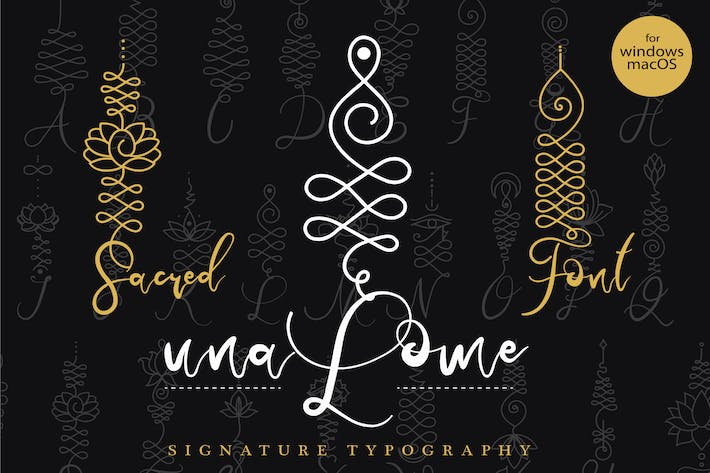 Thumbnail for Unalome Sacred Font