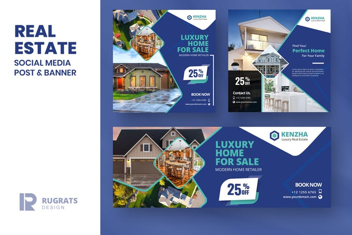 Thumbnail for Real Estate R2 Social Media Post Template