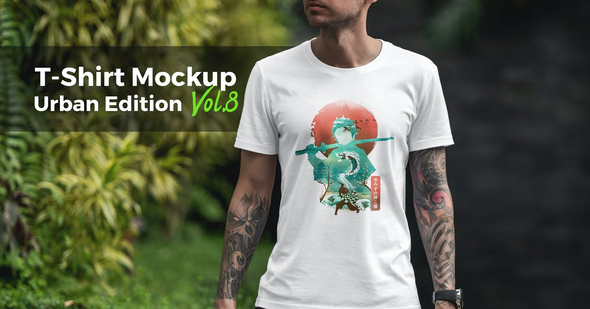 Download T-Shirt Mockup Urban Edition Vol. 8 by Genetic96