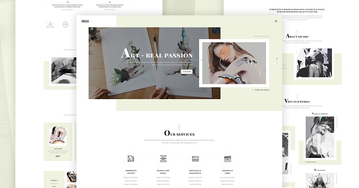 Download Mevo - Creative eCommerce HTML Template by UnionAgency