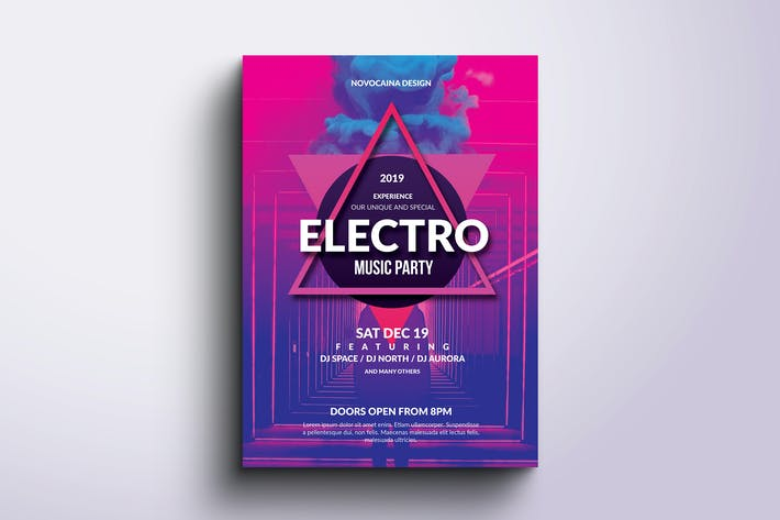 Thumbnail for Electro Music Party Poster & Flyer
