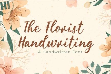 The Florist Handwriting