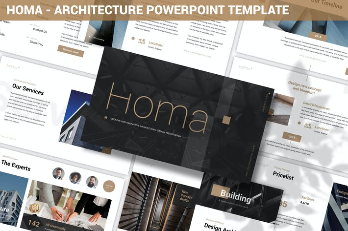 Thumbnail for Homa - Architecture Powerpoint Template