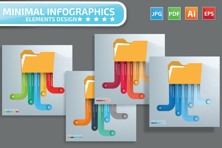 Cover Image For Folder infographic Design