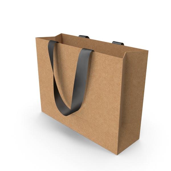 Ремесленная сумка с черными ручками