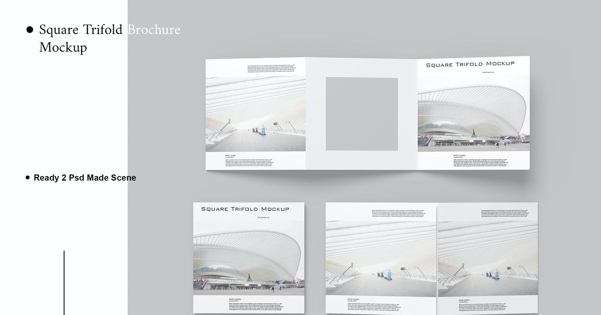Download Square Trifold Brochure Mockup V.2 by AuthenticMockup