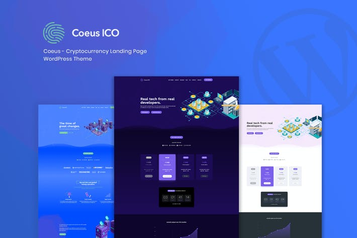 Thumbnail for Coeus - Cryptocurrency Landing Page WordPress Them