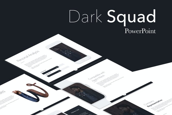 Thumbnail for Dark Squad PowerPoint Template