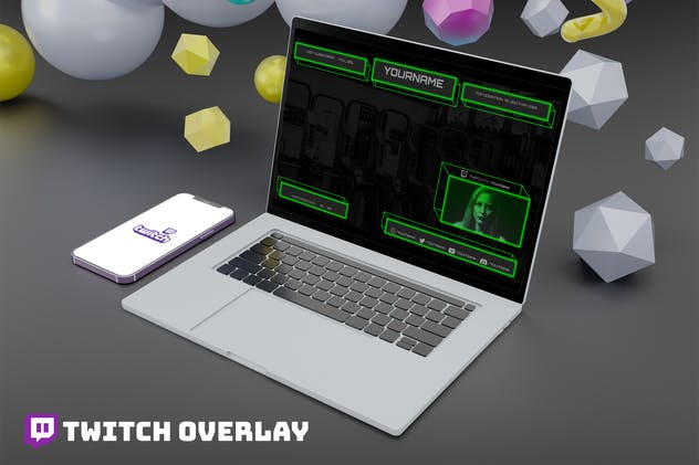 Cubex - Twitch Overlay Template