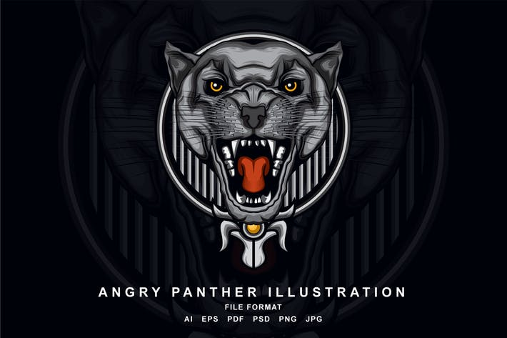 Thumbnail for Angry Panther Illustration