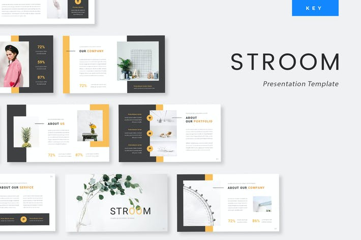 Thumbnail for Stroom - Creative Keynote Presentation Template