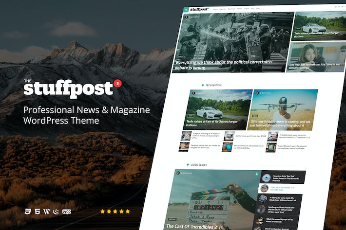 Thumbnail for StuffPost - Professional News & Magazine WordPress