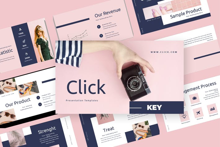 Thumbnail for Click - Fashion Keynote Presentation