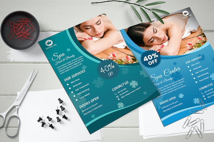 Thumbnail for Beauty Spa Flyer Templates