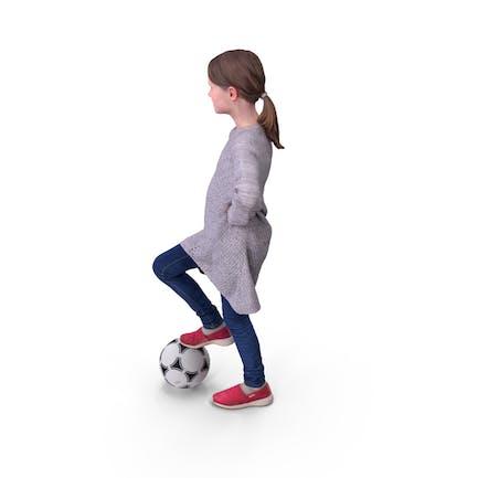 Jugador de pelota de fútbol