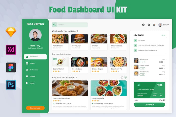 Food Dashboard - Nuzie