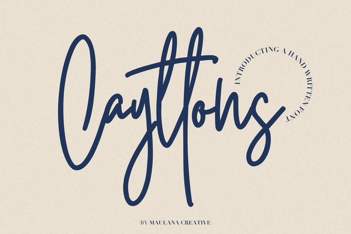 Thumbnail for Cayttons Signature Font