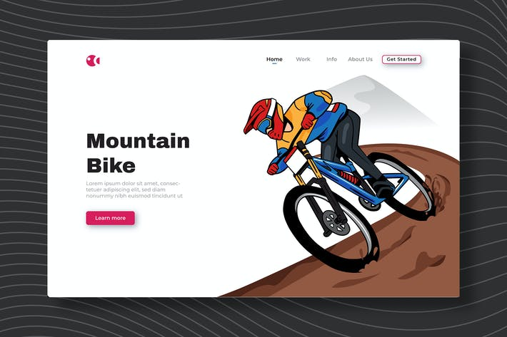 Mountain Bike - Landing Page