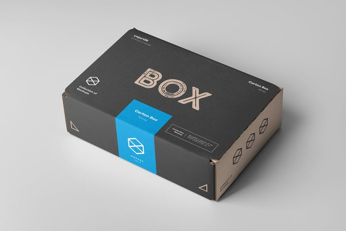 Thumbnail for Carton Box Mock-up 235x160x70